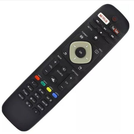 Controle Remoto Tv Philips Smart Com Netflix Youtube