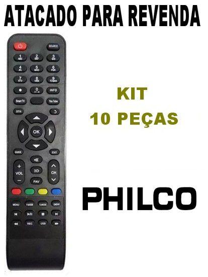 Controle Remoto Tv Philco Led Smart Kit com 10 Peças