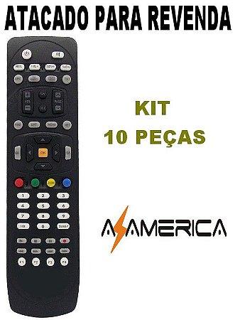 702621e97 Controle Remoto Azamerica S1006   S1007 Kit com 10 Peças - Mundo do ...