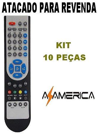 Controle Remoto Receptor Azamérica S920 / S922 Kit com 10 Peças