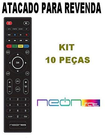 Controle Remoto Receptor Neonsat Colors Tron HD / Colors Neo / Ultimate HD / Ultimate Titanium HD Kit com 10 Peças