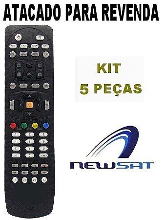 Controle Remoto Receptor Newsat Lion Hd- Kit com 5 Peças