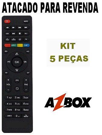 Controle Remoto Receptor Azbox Surprise HD / Thunder / Bravissimo Plus - Kit 5 Peças
