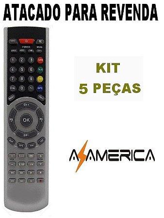 Controle Remoto Receptor Azamérica F98 - Kit com 5 peças