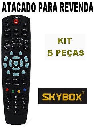 Controle Remoto Receptor Skybox SkyBox F3 / SkyBox F4 / SkyBox F5 - Kit com 5 Peças