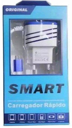 Carregador Rápido  para Celular V8 Inova Smart Original 2 entradas USB Auxiliar  Saída 5V - 3.1A