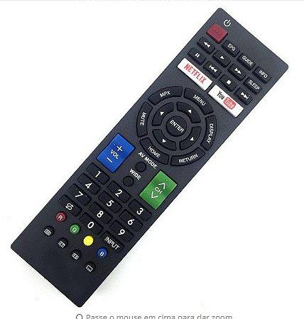 Controle Remoto TV Sharp TV G1593SA /  G1600SA /  G1603SB / G1606SB /  G1634SA /  GB016WJSA /  GB028WJSA /  076b0RV011 / GA718WJPA /  GA857WJSA / GA867WJSA