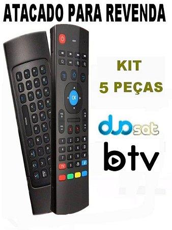 Controle Remoto Air Mouse Para Btv. B9 / Duosat Next UHD 4K