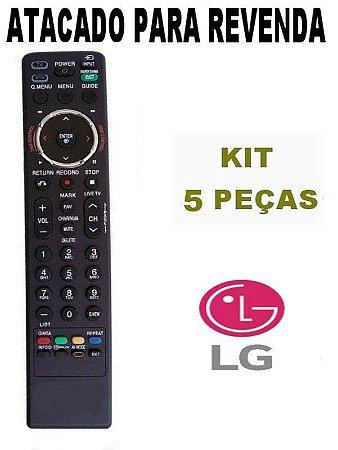 Controle Remoto Tv LG Lcd Led MKJ42613809 /  MKJ42613813 - Kit com 5 Peças