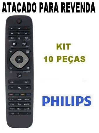 Controle Remoto Tv Philips Smart - RC2964501/01K / - Atacado -  Kit com 10 Peças