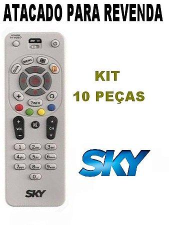 Controle SKY Livre E Digital Universal RC64SW Atacado Kit com 10 Peças