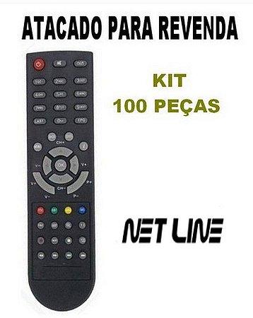 Controle Remoto para  Receptor Net Line  X45n X65 X95 HD X99 HD Atacado Kit com 100 Peças
