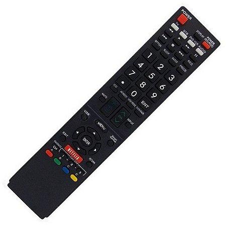 Controle Para Tv Lcd Sharp Aquos GB005WJSA / GB118WJSA / GA890WJSA / GB004WJSA LC-60C6600U LC-60EQ10U LC-60EQ30U LC60EQ30U com Netflix