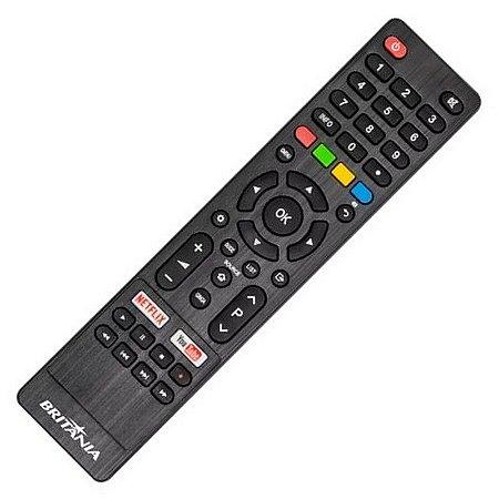 Controle Remoto TV Britânia  Philco BTV40E63SN com Netflix e YouTube