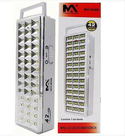 Luz Refletor Luminaria De Emergencia Recarregavel 42 LEDs BIVOLT