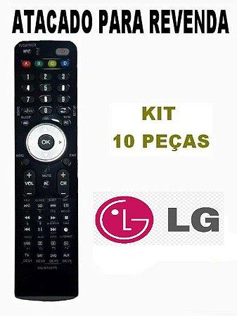 Controle Remoto Projetor LG Be320 / Be 325 / BS125 / BS325/ BS254 / BS275 / BX 275  Kit com 10 Peças