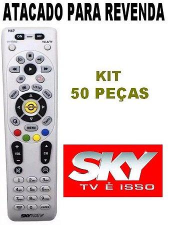 Controle Original Sky Hdtv Hd Plus H67 Kit Com 50 Peças