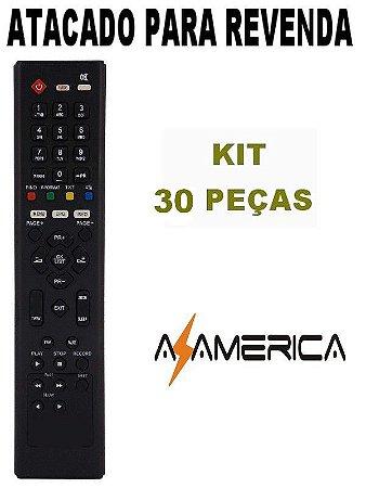 Controle Remoto Receptor Azamérica F90 / S800 / S806 / S807 / S808 / S809 / S810B / S812 / S900 / S912 Kit com 30 Peças