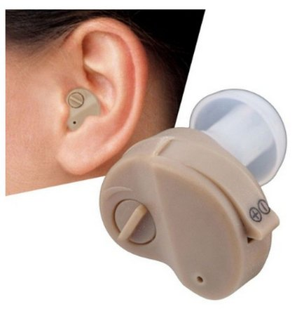 Mini Aparelho Auditivo Portátil ITE Hearing Aid  Amplificador de som no ouvido e voz