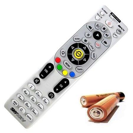 Controle Remoto SKY HDTV Hd Original  com Chave + Pilhas