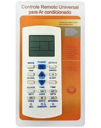 Controle Remoto Universal De Ar Condicionado (várias Marcas)