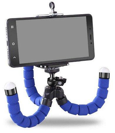 Mini Tripé Flexível Suporte Celular Gopro Câmeras