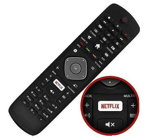 Controle Remoto  TV Philips Smart 49pug6801 49pug6801/78 55pug6801 55pug6801/7