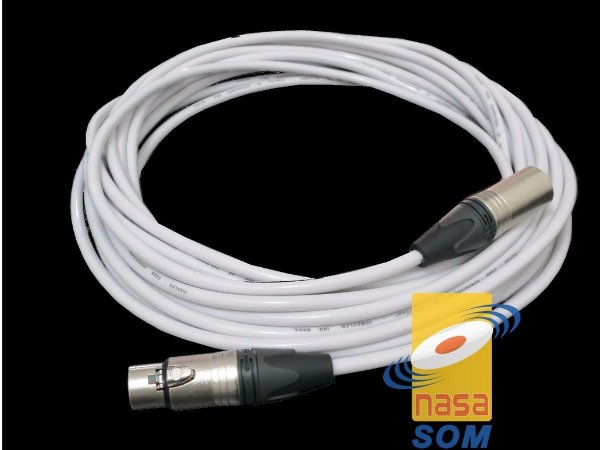 CABO XLR X XLR 5m BRANCO (plug AH LIGHT E FIO TIAFLEX)