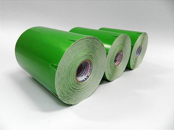 Etiqueta para Frizo Gondola 105x30mm Chapado Verde