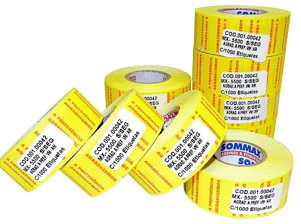 03. Etiqueta MX-5500 S/Seg c/1000 (VM/AM) para Etiquetadora de Preços
