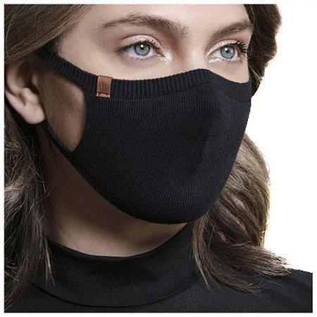 Máscara Proteção Camada Dupla 100% Algodão Biamar Preta