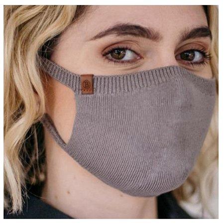 Máscara Proteção Camada Dupla 100% Algodão Biamar Cinza