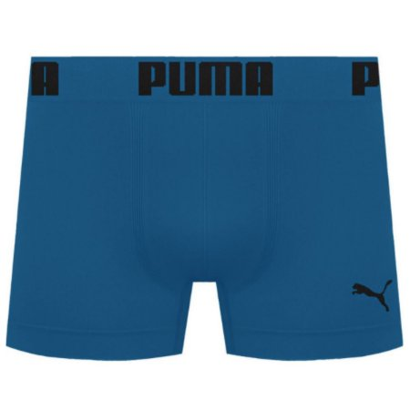 Cueca Boxer Puma Sem Costura - Azul Petróleo M