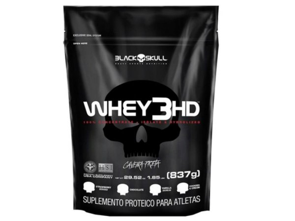 Whey 3hd 837g - Black Skull Morango
