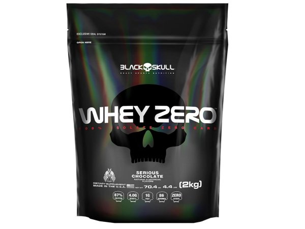 Whey Zero Refil 2kg - Black Skull Chocolate