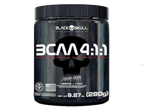Bcaa 4:1:1 Caveira Preta 280g - Black Skull Limão