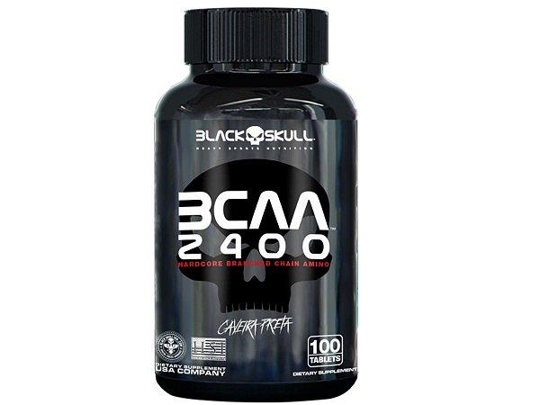 Bcaa 2400 100 Tabs - Black Skull Caveira Preta