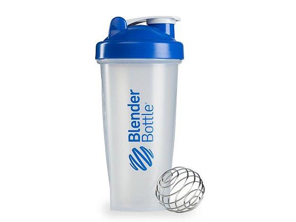 Coqueteleira Blender Bottle 600ml - Cor Transparente Azul