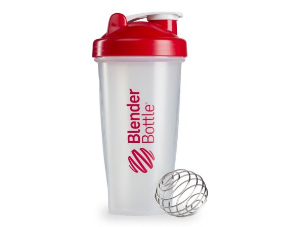 Coqueteleira Blender Bottle 600ml - Cor Transparente Vermelho