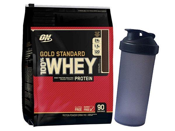 Whey Gold Standard 2880g Optimum Nutrition Chocolate + Coqueteleira