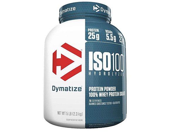 Iso 100 Hydrolyzed Whey Protein 5lb ( 2,3kg ) - Dymatize Chocolate Gourmet