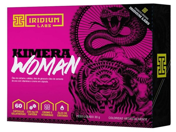 Kimera Woman Thermo - Termogênico Kimera Woman - 60 Caps - Iridium Labs