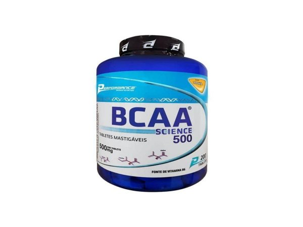 Bcaa 200 Tabletes Mastigavel - Performance Frutas Tropicais