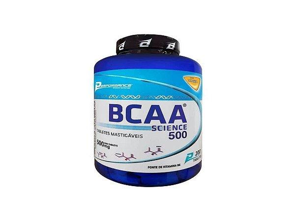 Bcaa 200 Tabletes Mastigavel - Performance Menta