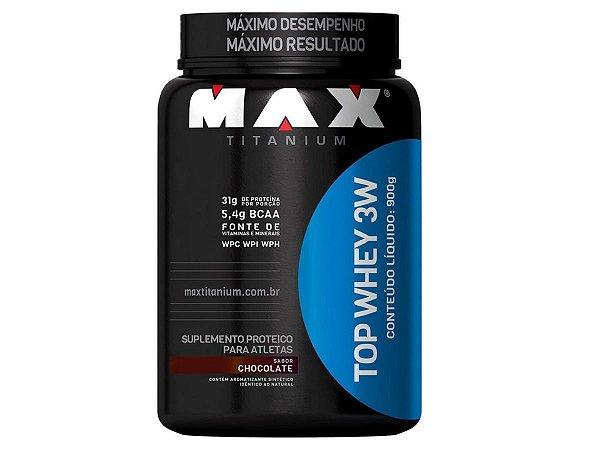 Top Whey 3W 900g Morango - Max Titanium