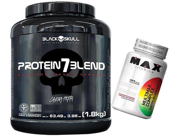 Protein 7 Blend 1,8kg Black Caramelo + Multimax Complex 90 Cáps Max