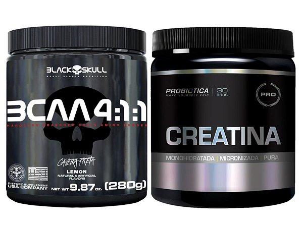 Bcaa 4.1.1 280g - Black Skull Açaí com Guaraná + Multimax 90 cáps Max