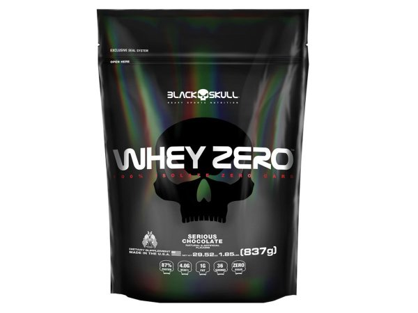 Whey Zero Refil 837g Cookies & Cream - Black Skull