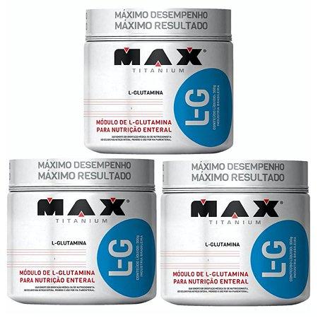 3X Glutamina 300g Max Titanium