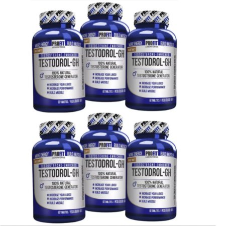 6X Testodrol Gh 60 Tabletes Precursor Testosterona - Profit